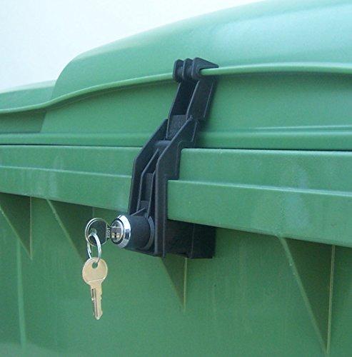 Müllcontainerverschluss, 1100 Liter für Otto, Flachdeckel, GS
