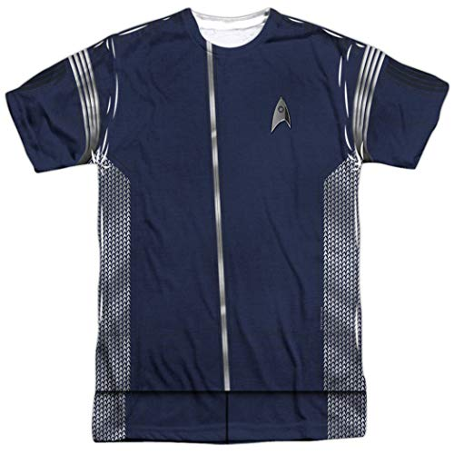 Popfunk Star Trek Discovery Science Uniform Adult Short Sleeve T Shirt (Medium)