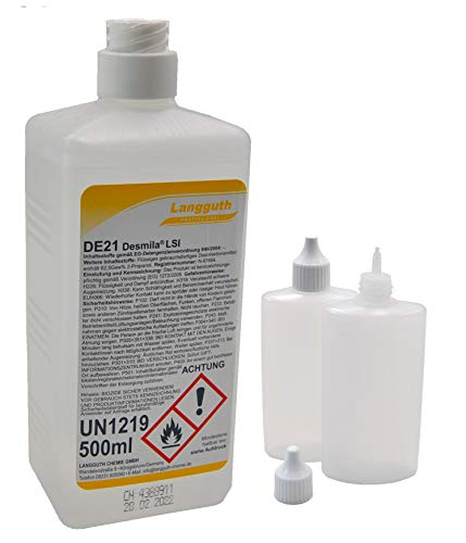 Desmila LSI DE21 500 ml Haut-& Händedesinfektionsmittel entfernt Bakterien, Pilze und Viren Desinfektionsmittel inklusive zwei 100ml Dosierflaschen