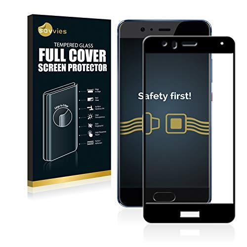 savvies Cristal Templado Completo Compatible con Huawei P10 Lite 2.5D Cobertura Completa...