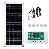 BESPORTBLE Kit de Panel Solar 200W 30A Kit de Inicio de Panel Solar Portátil Kit de Carga Completo para Generador Portátil Power Station Trailer Camper RV Boat