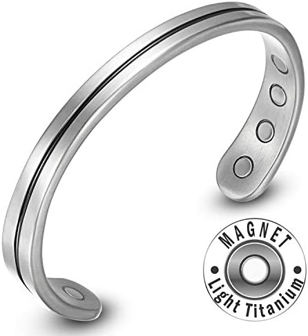 Mens Womens Light Titanium Magnetic Therapy Bracelet Bangle Pain Relief for Arthritic