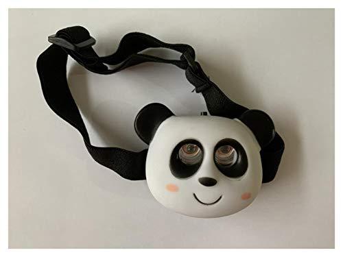 DINGCHANG Kind nieuwigheid Koplamp USB Oplaadbare L^E^D Hoofd Lamp voor Kid Camping Student Creativ Festival Gift jongen en meisje (Emitting Kleur: Panda)