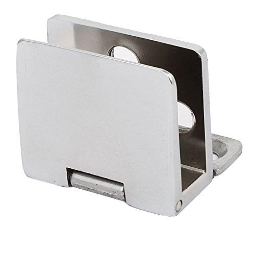 sourcingmap® Clip de cierre de Bisagras de metal para puerta de vidrio de 5mm-8mm de...