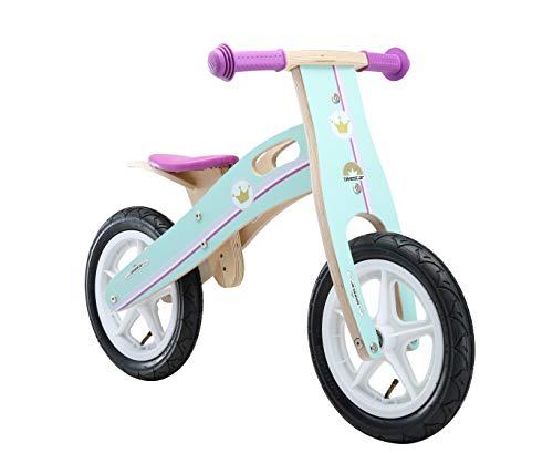 BIKESTAR Kinderlaufrad Lauflernrad Kinderrad für Mädchen ab 3 - 4 Jahre | 12 Zoll Kinder Laufrad Holz | Violet | Risikofrei Testen