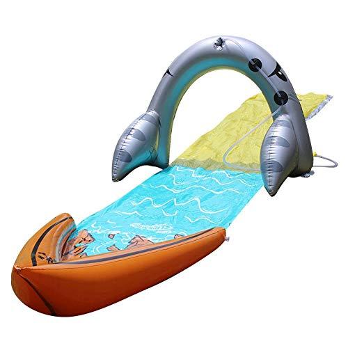 Brownrolly Tobogán Infantil Jardín Patio Trasero Tobogán de Agua Rociador Juguete Mundo de Deportes acuáticos para niños Niñas Diversión al Aire Libre