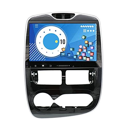 ZWNAV 2 DIN Carplay para Renault Clio 2013-2018 Android 10 Reproductor Multimedia Pantalla táctil Car Video Audio Radio Receptor Navegación GPS Unidad Auto Stereo (PX6 64G DSP Carplay, 2013-2015)