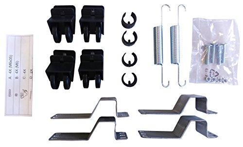Confezione per rete estraibile-letto supplementare (ruote, piastrine, molle, viti)
