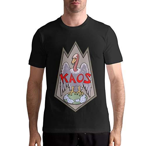 Man KAOS Logo Vintage T Shirt Music Band T Shirt Black L