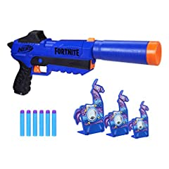 Practice your aim with this targeting set: this set includes an spmrnum-r blaster, 6 darts and 3 llama targets so you can practice your aim or play competitive games with family and friends Includes 3 llama targets: comes with 3 llama targets in diff...