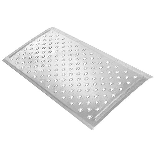 "Silver Spring 2-5/8"" High Aluminum Threshold Ramp, Punch Plate Surface, 16"" L x 32"" W"