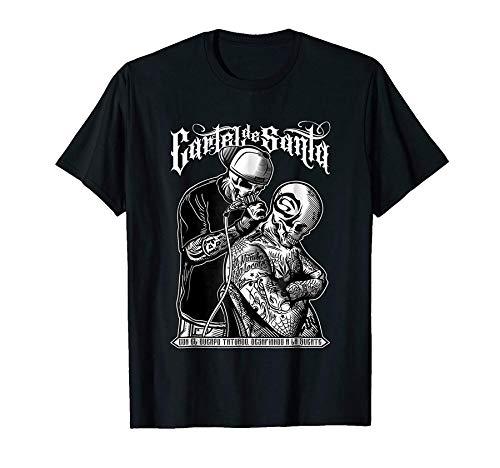 PEIJUNLAI T Shirts for Men G-B01 Cartel De Santa Funny Novelty Tops Mens tee Shirts XXL