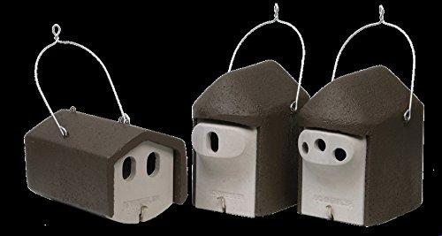 Schwegler Naturschutzprodukt Set II Garten räubersicher 3 Nisthöhlen Nistkasten Vogelhaus für Gartenvögel Vögel