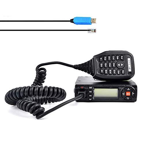 HYS M10W 15W Dual Band 136-174 MHz (VHF) 400-490 MHz (UHF) Ricetrasmettitore mobile per auto Radioamatore bidirezionale per veicoli con cavo di programmazione e software