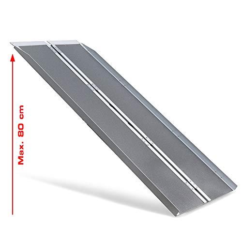 Rolstoeloprijplaat, oprijplaat, laadhelling antislip oppervlak, breedte 74 cm, lengte 182 cm