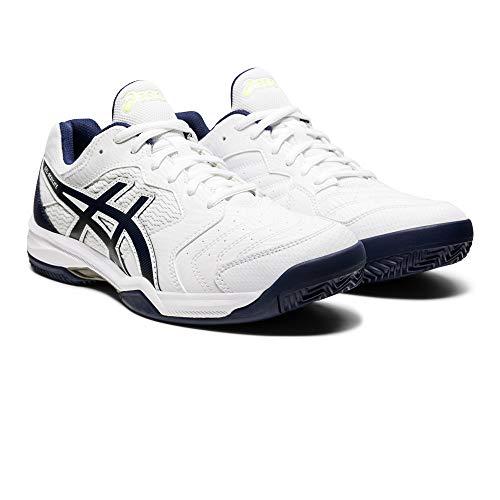 ASICS Herren Gel-Dedicate 6 Clay Tennis Shoe, White/Peacoat, 47 EU