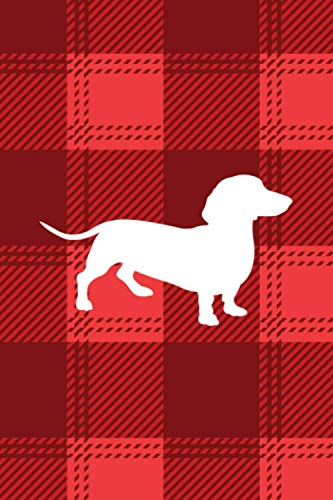 Dachshund: Stocking Stuffer for Women, Stocking Stuffer for Teen, Christmas Gift for Dog Mom, Dog Lover, Dog Mama Red Plaid Tartan