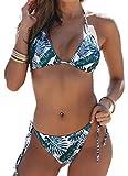 CheChury Costumi da Bagno Halterneck Push-Up Bikini Brasiliana Triangolo Donne Beachwear 2 Pezzi Set Bikini da Donna 2021 Nuovo