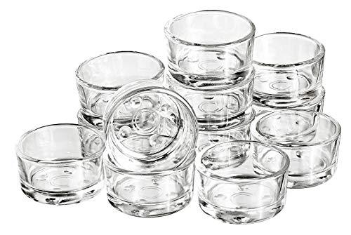 12 verres à bougie chauffe-plat