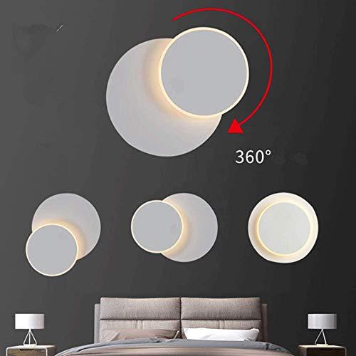 Applique a LED,Lampada da Parete Plafoniera Girevole a 350 Gradi,9W 3000K Bianco caldo per interno scale soggiorno camera letto