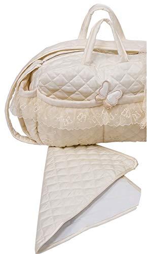 Picci Sac à langer en tissu doux Sissi avec matelas à langer Crème