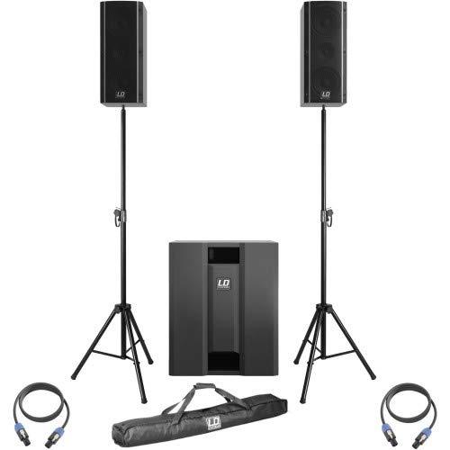 LD Systems Dave 8 Roadie System BK + Stativ + Kabel Set