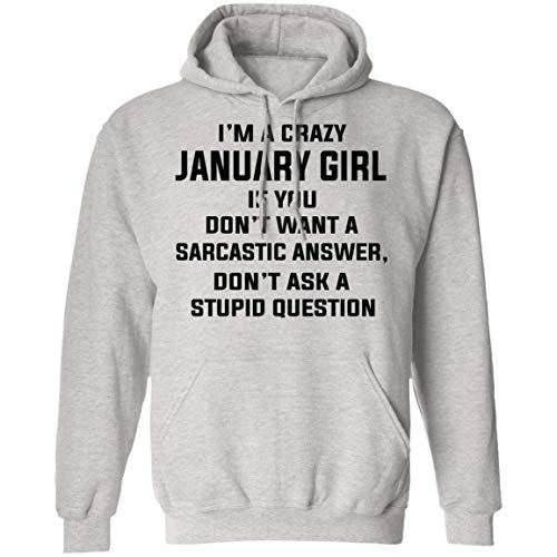 VTMMO I'm A Crazy January Girl Birthday Shirt Gift for January Girl Hoodie