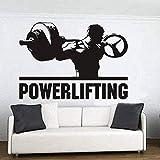 Wandtattoos für Gewichtheben, Schlafzimmer, Dekoration für Zuhause, Motivationstraining, Fitness, Wanddekoration, Schwarz, 57 x 80 cm