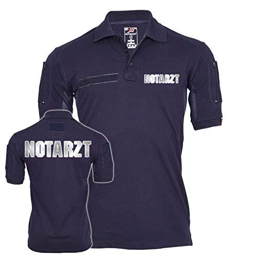 Copytec Tactical Polo Notarzt reflektierend Dr Arzt Krankenhaus Rettungsdienst Sanitäter Hemd Bekleidung Krankenwagen #23443, Größe:L, Farbe:Dunkelblau