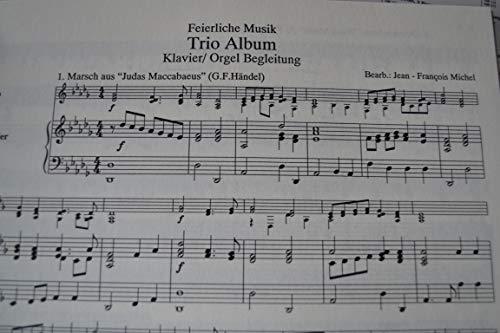 Feestelijke muziek trio-album piano stem (orgel)