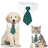 Haustier Krawatte Hundekrawatte Einstellbare Kostüm Hundehalsband für Kleine Hunde und Katzen Hündchen Pflege Krawatten Party Zubehör Weihnachtskostüm (S, Streifen-Blau)