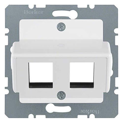 Hager–Platte für 2Anschluss Modular Glasfaserkabel MODUL2/ARSYS Polar Weiß