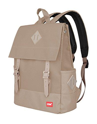 blnbag U1 - Leichter Tagesrucksack, Daypack für Damen und Herren Canvas Rucksack für Schule, Uni, Büro, multifunktionaler Cityrucksack, Backpack Unisex, Beige