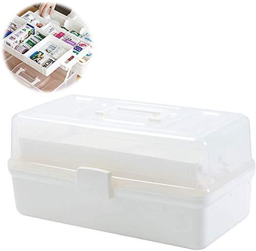 en Plastique Portable Famille Stockage Armoire à Médecine Ménage Médecin d'urgence Boîte De Traitement Boîte De Santé Boîte De Pilules (Couleur: Blanc, Taille: Moyen)