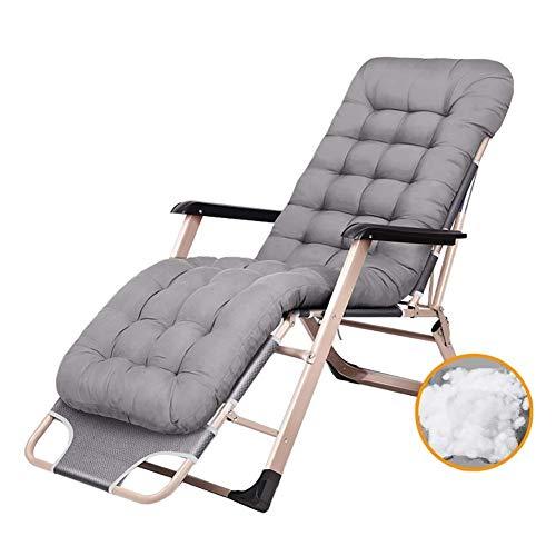 SLRMKK Rocker Lounger Recliner, Gartenhaus/Klappstuhl Outdoor Patio Stühle Schwerelosigkeit Liegen für schwere Menschen Sun Lounger Zero Gravity Stuhl Outdoor Camping Klappbare tragbare Stühle