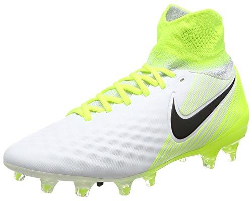 Nike Youth Magista Obra II FG Cleats, White/Black-Volt-Pure...