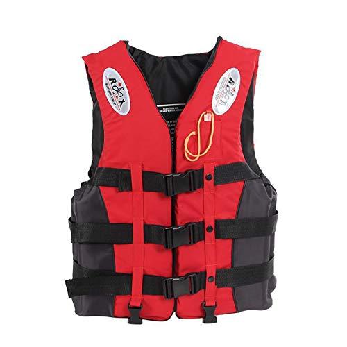 Chaleco Salvavidas Flotante, Chaleco De Natación Ayuda a La Flotabilidad para Canotaje Kayak Piragüismo Adulto Adulto Chaleco De Natación Flotador Chaleco Salvavidas (Color : Red, Size : L)