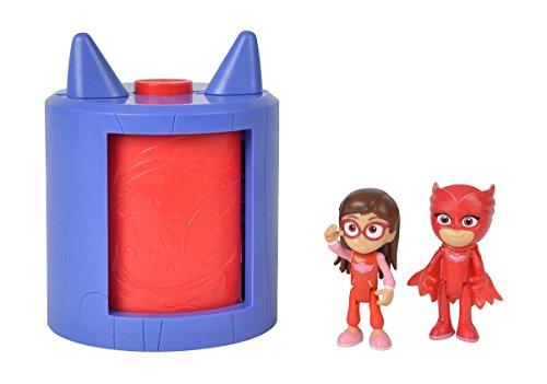 Simba 109402156 - PJ Masks Verwandlung Amaya in Eulette / Spielset / mit Amaya und Eulette Figur / stapelbar, für Kinder ab 3 Jahren