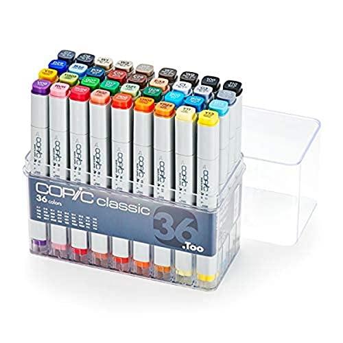 Copic Marker Classic Markers 36-Piece Basic Set
