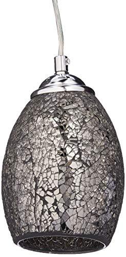 Chloe Lighting CH3GY16DC05-DP1 Melia Mosaic - Lámpara de techo con pantalla de 4,8 pulgadas, color gris