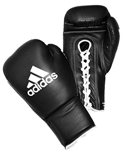 adidas Boxhandschuhe Herren Damen Erwachsene Leder Spitze Schwarz Weiß 227 g 510 g (Schwarz, 510 g)