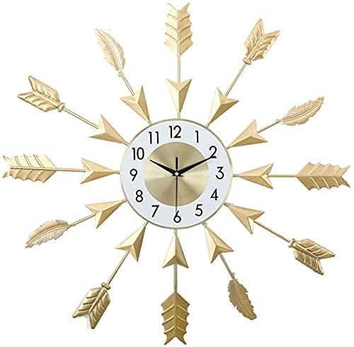 chazuohuaile Co.,ltd Reloj De Pared Reloj De Pared Decorativo Dorado Reloj De Pared Forjado Hogar Sala De Estar Estudio Creativo Reloj De Pared Electrónico