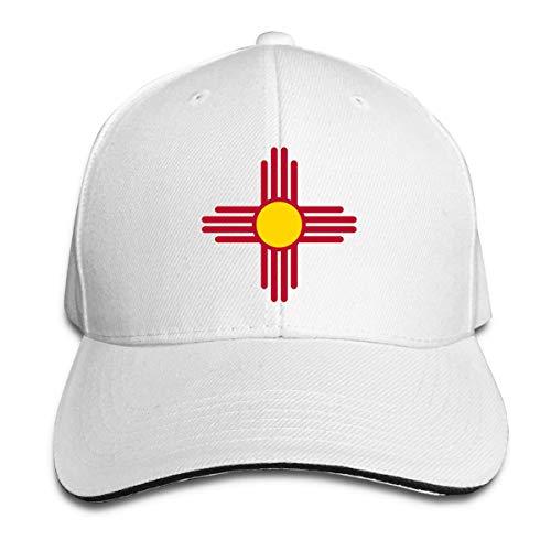 Odelia Palmer Gorras de béisbol para Adultos Bandera del Estado de Nuevo México Gorra Tipo sándwich Ajustable Personalizada Casquette Sombreros CBH-124