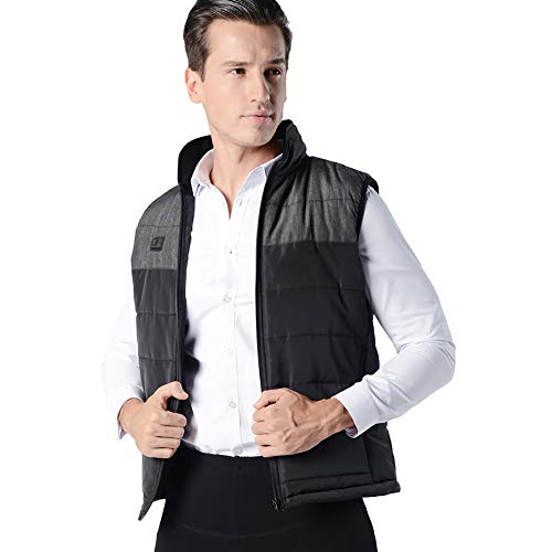 Lowest Prices! WDDMFR Lightweight Electric Heated Vest,Adjustable Charging Heating Vest Clothing Was...