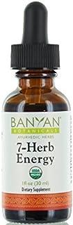 Banyan Botanicals 7 Herb Energy - Organic Liquid Extract - 1 oz - Caffeine-Free, Natural Energy Support **