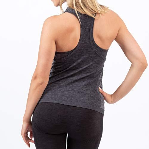 Gymbassador » Nachhaltiges Damen Tanktop, Sporttop | Seamless Ärmellos | Funktionell für Sport, Fitness, Gym, Workout, Yoga, Laufen | Fair produziert | Grau, M
