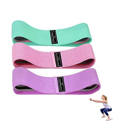 Bandas de resistencia LAD 3 juegos, diferentes niveles de resistencia antideslizantes, ejercicio, ejercicio, bandas para abdominales, piernas, accesorios de gimnasio con bolsa