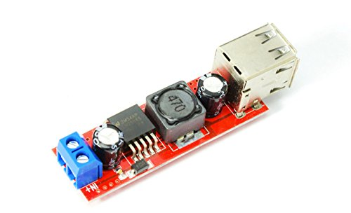 MissBirdler Dual 5V USB DC 7V-36V nach 5V, 3A Step Down Spannungswandler für Arduino