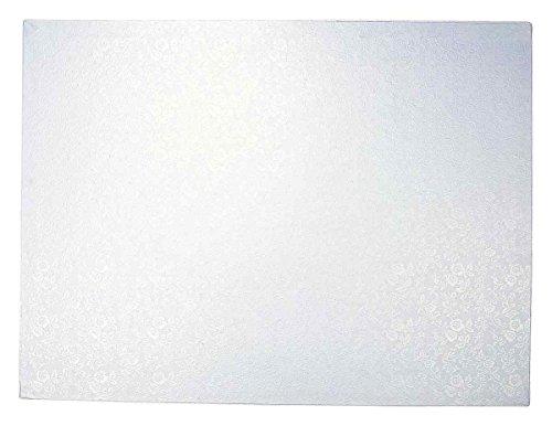 Städter 900042 Cakeboard, Kuchenplatte rechteckig Tortenplatte, Kunststoff, weiß, 40 x 30 x 2 cm,