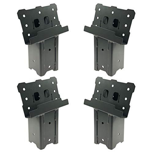 Highwild Platform Brackets Multi-Use 4x4 Compound Angle Brackets for Deer Stand, Hunting Blinds, Observation Decks & Outdoor Platforms - Set of 4